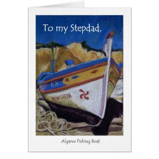 Birthday Card for a Stepdad - Algarve Fishing Boat