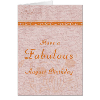 Birthday Card for Adult Born in August