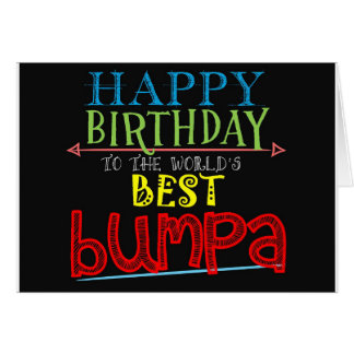 Birthday Card for Bumpa Granpda Alternative Name