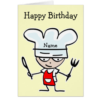 Birthday card for chef or cook - Cooking theme