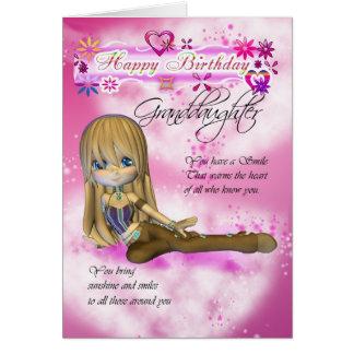 Birthday card for Granddaughter, Moonies Cutie Pie
