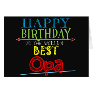 Birthday Card for Opa