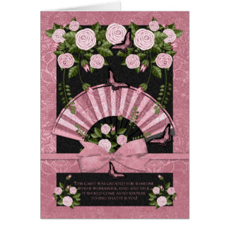 Birthday Card For Someone Special With Fan Roses