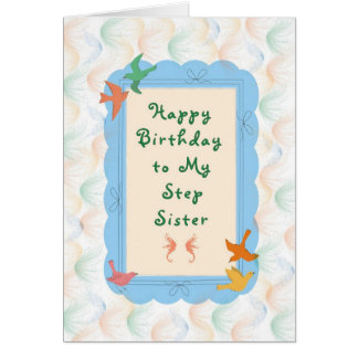 Birthday Card for Step Sister