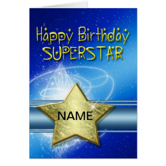 Birthday card for Superstar