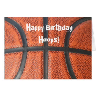 Birthday Card For The Basketball Star