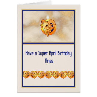 Birthday Card for the Zodiac Sign Aries.