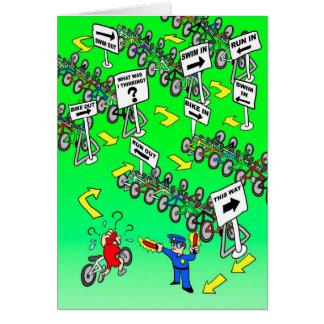 Birthday Card for Triathlete - Triathlon Cop