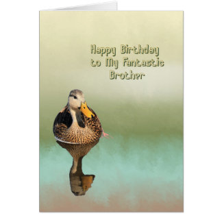 Birthday Card for Your Brother with Mottled Duck