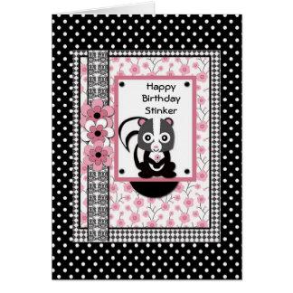 Birthday Card Happy Birthday Stinker