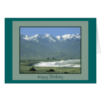 Birthday Card - Kaikoura Oceanside, New Zealand