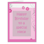 Birthday Card - Neice Pink Daisy