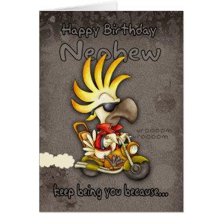Birthday Card - Nephew Birthday Card - Cockatoo Bi