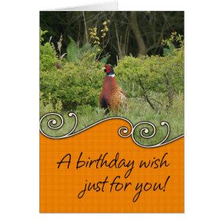 Birthday Card - Pheasant