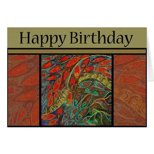 birthday card - revolving door painting