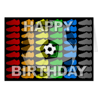 Birthday Card Soccer Shoe Black