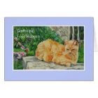 Birthday Card, Swedish Greeting, Ginger Cat Card