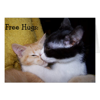 Birthday Card: Sweet of cementing give free Hugs! Card