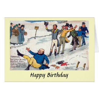 Birthday Card - The Pickwick Papers - Dickens