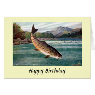 Birthday Card - Trout