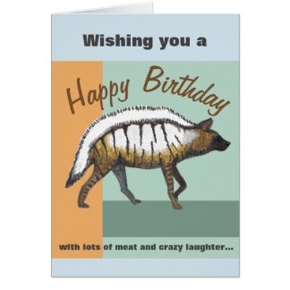 Birthday Card with a Hyena and funny wishes