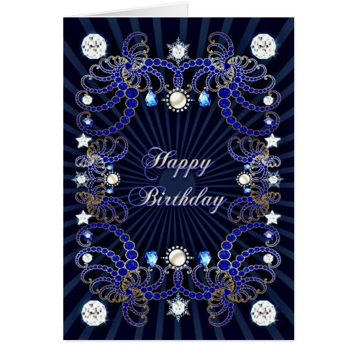 Birthday card with masses of jewels