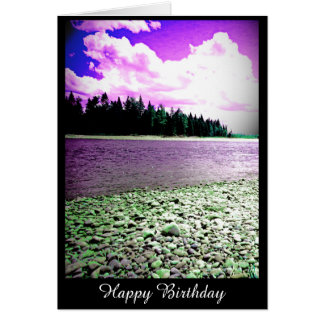Birthday Card with River Photograph (blank inside)