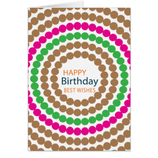 Birthday Card With Swirly Dots