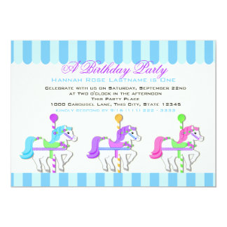 Birthday Carousel Ponies Card