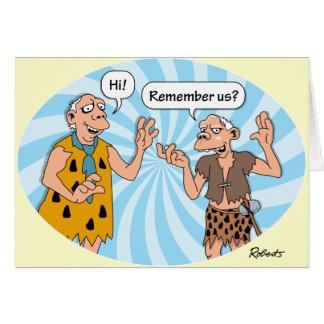 Birthday: Cavemen Humor Greeting Card