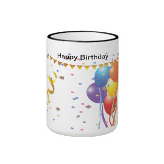 Birthday Celebration 2 Ringer Mug
