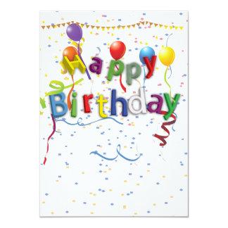 Birthday Celebration 3 11 Cm X 16 Cm Invitation Card