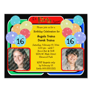 Birthday Celebration Photo Invitation