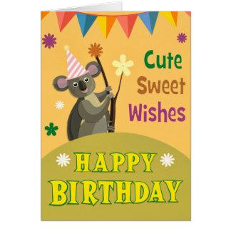 Birthday Celebration with Koala Greeting Card
