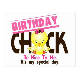 Birthday Chick 2 Postcard