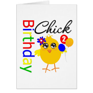 Birthday Chick 2 Years Old Greeting Card