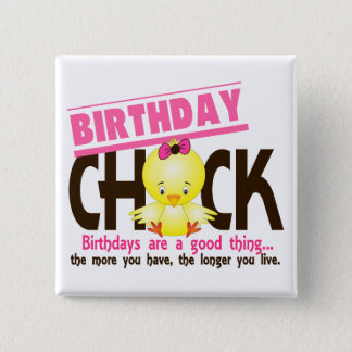 Birthday Chick 4 15 Cm Square Badge