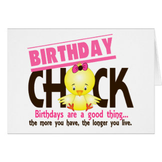 Birthday Chick 4 Greeting Cards