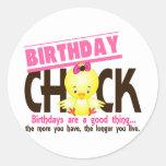 Birthday Chick 4 Round Sticker