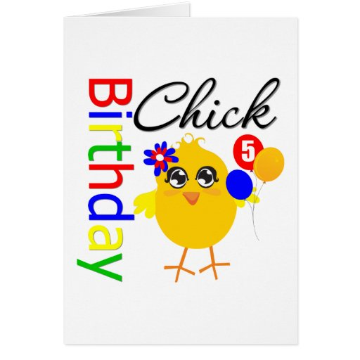 Birthday Chick 5 Years Old Cards