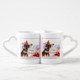 Birthday Chihuahua Dog Couples Mug
