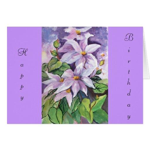 BIRTHDAY CLEMENTIS Card
