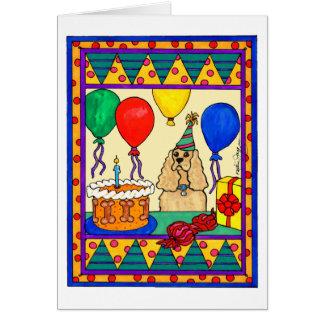 BIRTHDAY COCKER CARD