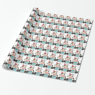 Birthday cow pattern wrapping papr