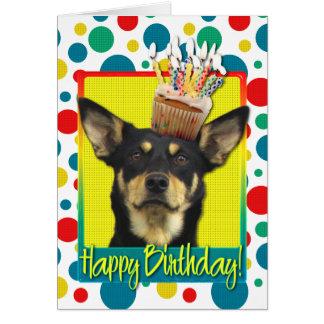 Birthday Cupcake - Australian Kelpie - Jude Greeting Card