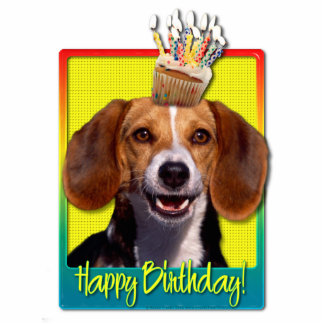 Birthday Cupcake - Beagle Photo Sculptures