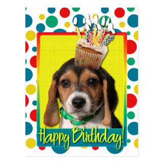 Birthday Cupcake - Beagle Puppy - Chloe Postcard