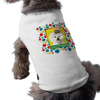 Birthday Cupcake - Bichon Frise Sleeveless Dog Shirt