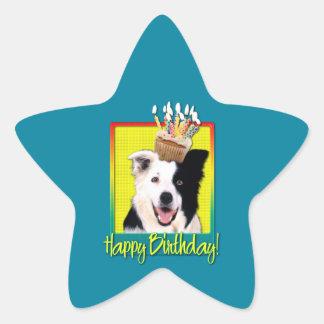 Birthday Cupcake - Border Collie Star Stickers