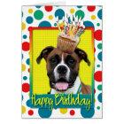 Birthday Cupcake - Boxer - Vindy Card